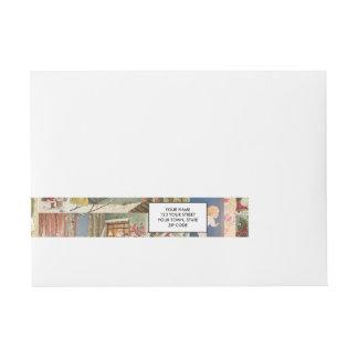 Modelo del día de fiesta de las tarjetas de etiquetas postales