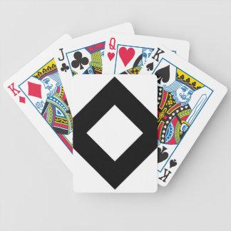 Modelo del diamante blanco y negro baraja