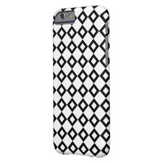 Modelo del diamante blanco y negro funda de iPhone 6 barely there