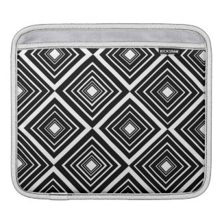 Modelo del diamante blanco y negro fundas para iPads