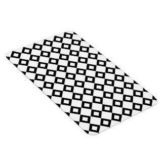 Modelo del diamante blanco y negro imanes rectangulares