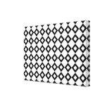 Modelo del diamante blanco y negro impresiones de lienzo