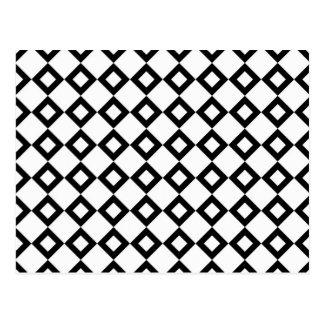Modelo del diamante blanco y negro postal