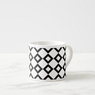 Modelo del diamante blanco y negro taza espresso