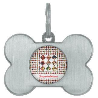 Modelo del diamante de la chispa: Texto Editable d Placas Mascota