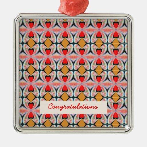 Modelo del diamante de la joya n con el texto EDIT Ornamento De Reyes Magos