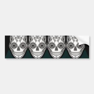 Modelo del diamante del cráneo del chica de Dia de Etiqueta De Parachoque