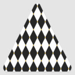 Modelo del diamante del Harlequin Pegatina Triangular