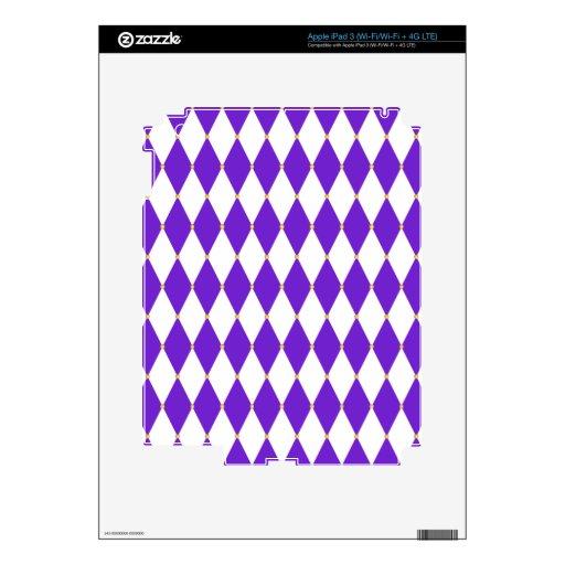 Modelo del diamante del Harlequin Pegatinas Skins Para iPad 3