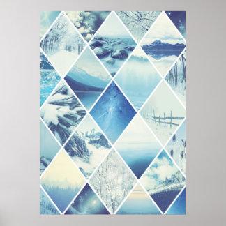 Modelo del diamante del invierno póster