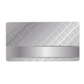 Modelo del diamante del metal etiqueta de envío
