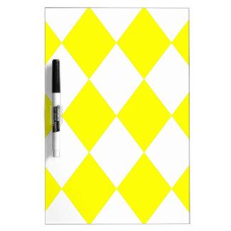 MODELO del DIAMANTE en amarillo brillante Pizarras Blancas