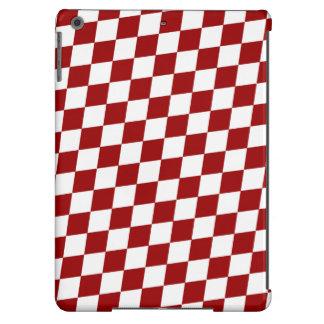MODELO del DIAMANTE en de color rojo oscuro Funda Para iPad Air