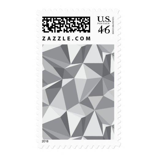 Modelo del diamante - polígono abstracto sello