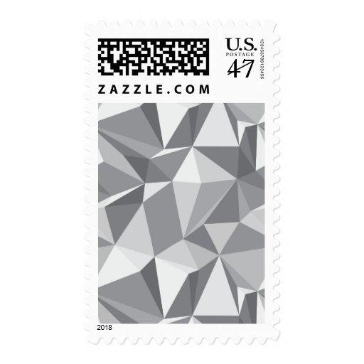 Modelo del diamante - polígono abstracto sellos postales