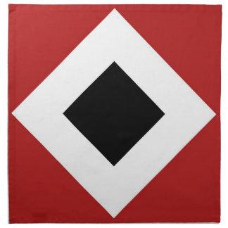 Modelo del diamante rojo, blanco, negro servilleta