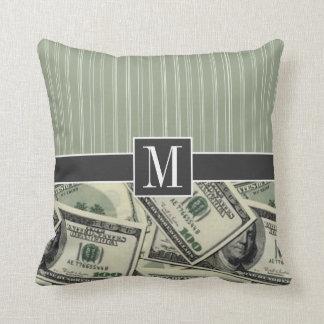 Modelo del dinero; Cuenta del verde $100 Almohadas
