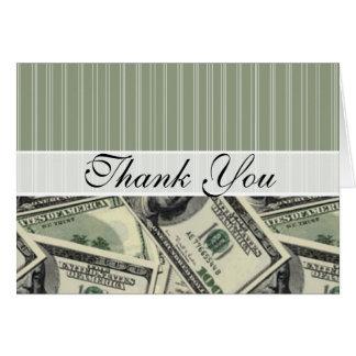 Modelo del dinero; Cuenta del verde $100 Tarjeta Pequeña