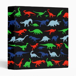 """Modelo del dinosaurio azulverde y rojo en negro carpeta 1"""""""