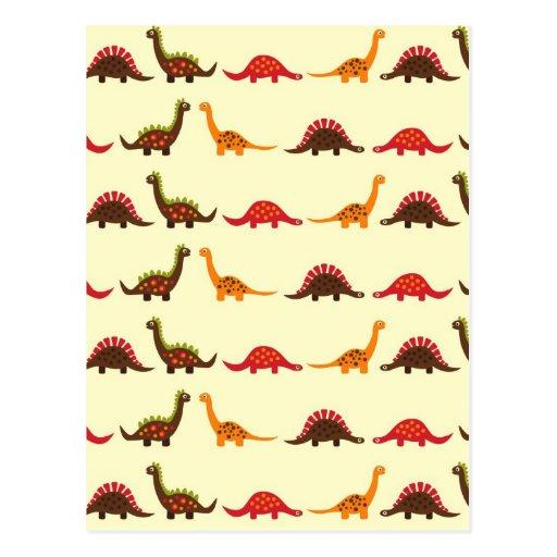 modelo del dinosaurio tarjetas postales