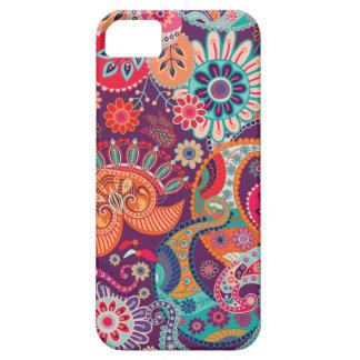 Modelo del diseño floral del vintage iPhone 5 Case-Mate coberturas