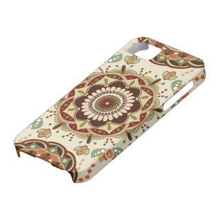Modelo del diseño floral del vintage iPhone 5 cobertura