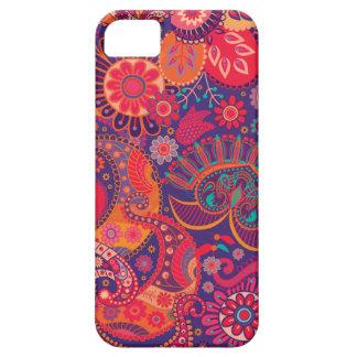 Modelo del diseño floral del vintage iPhone 5 Case-Mate cobertura