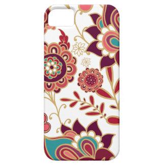 Modelo del diseño floral del vintage iPhone 5 protectores