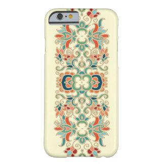 Modelo del diseño floral del vintage funda de iPhone 6 barely there