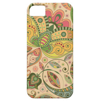 Modelo del diseño floral del vintage iPhone 5 Case-Mate protector