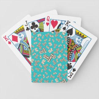 Modelo del dominó de la turquesa de la diversión baraja cartas de poker