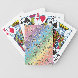 Modelo del dominó del arco iris de la diversión barajas de cartas