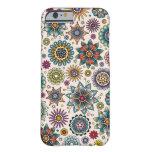 Modelo del Doodle de la flor del estilo del Funda De iPhone 6 Barely There