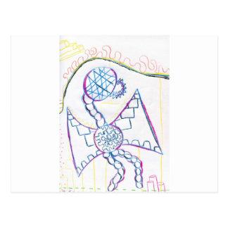 Modelo del dragón del monstruo tarjetas postales