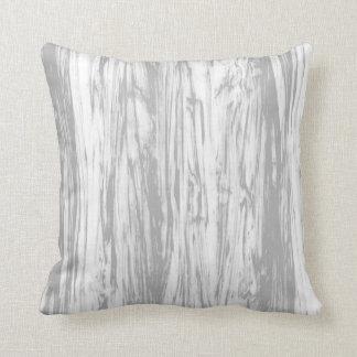 Modelo del Driftwood - gris/gris y blanco Cojín Decorativo