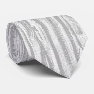 Modelo del Driftwood - gris/gris y blanco Corbatas Personalizadas