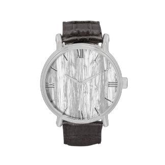 Modelo del Driftwood - gris gris y blanco Relojes De Pulsera