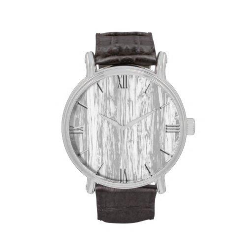 Modelo del Driftwood - gris/gris y blanco Relojes De Pulsera