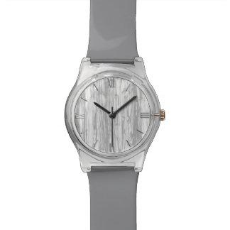 Modelo del Driftwood - gris gris y blanco Reloj De Mano