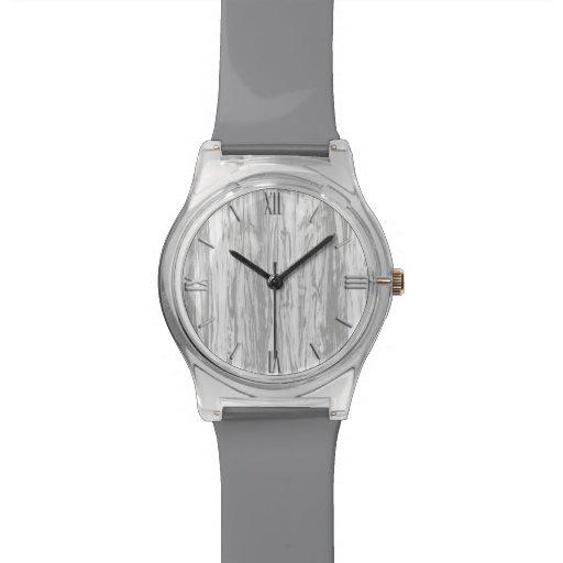 Modelo del Driftwood - gris/gris y blanco Reloj De Mano