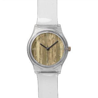 Modelo del Driftwood - marrón y moreno del cacao Reloj De Mano