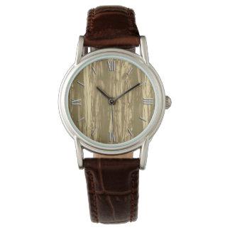 Modelo del Driftwood - marrón y moreno del cacao Relojes De Pulsera