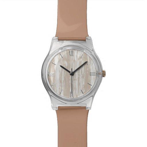 Modelo del Driftwood - moreno de color topo y Reloj De Mano
