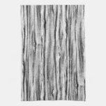 Modelo del Driftwood - negro, blanco y gris Toalla De Cocina