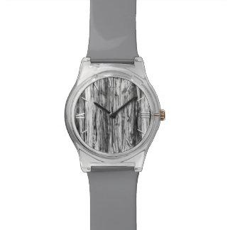 Modelo del Driftwood - negro blanco y gris Reloj De Mano