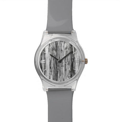 Modelo del Driftwood - negro, blanco y gris Reloj De Mano