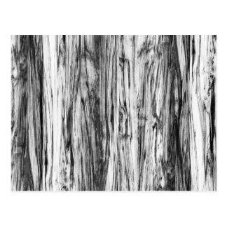 Modelo del Driftwood - negro, blanco y gris Postal