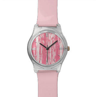 Modelo del Driftwood - rosado coralino y blanco Reloj De Mano