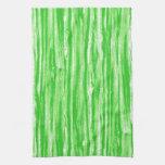 Modelo del Driftwood - verde lima y blanco Toallas De Cocina