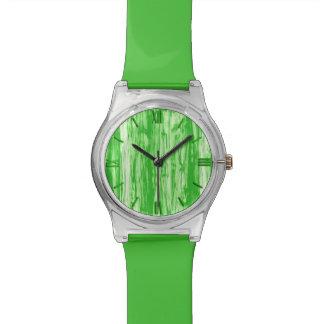 Modelo del Driftwood - verde lima y blanco Relojes De Mano